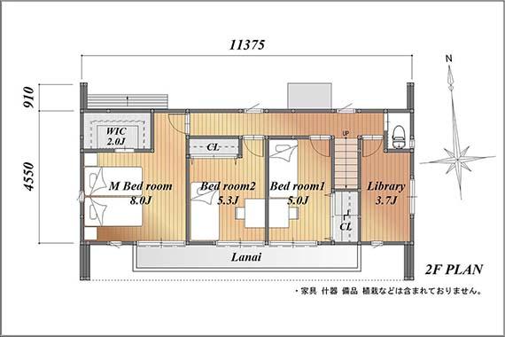 I型プラン 2F平面図