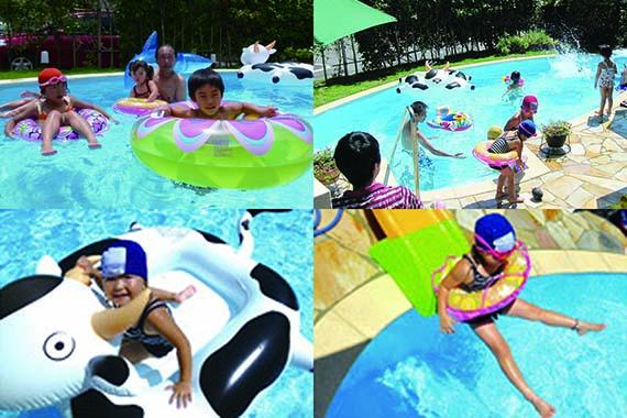 プールを楽しむ「子供たちの弾ける笑顔!」